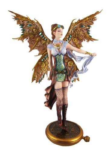 PTC 13.13 Inch Steampunk Fairy Aviator Adventure Statue Figurine