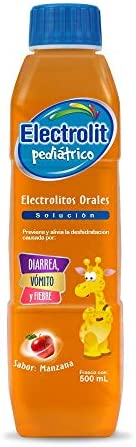 Electrolit Suero Rehidratante Pediátrico, Sabor Manzana, Color, 500 Mililitros (Ml), Pack Of/Paquete De