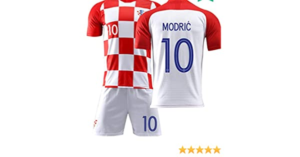 78638534e3a LISIMKE Croatia Home Luka Modric  10 Jersey 2018 2019 Men s Soccer at  Amazon Men s Clothing store