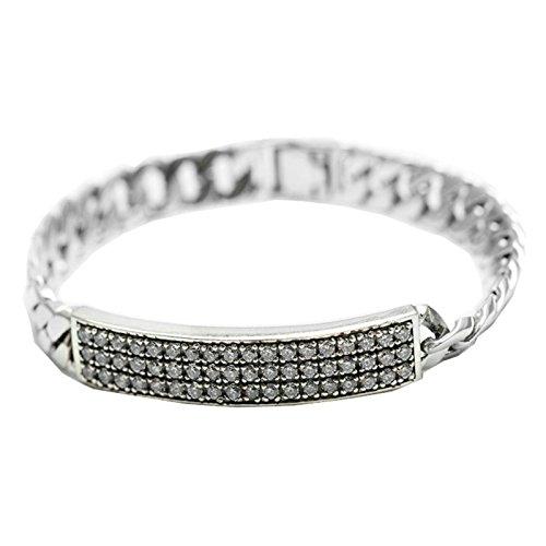Daesar 925 Silver Bracelet For Women And Men Cubic Zirconia Unisex Bracelet Silver Chain Length:21CM by Daesar
