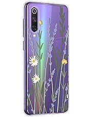 Oihxse Mandala Flores Encaje Patrón Serie Case Compatible con Huawei P Smart Z Funda TPU Silicona Suave Protector Ultra Slim Anti-Rasguño Transparente Carcasa (A9)