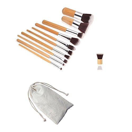 AMarkUp 15 Colors Cosmetics Cream Contour Foundation Concealer Palette with 11pcs Bamboo Face Makeup Brushes Set