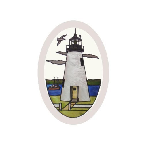 Maryland Concord Point Lighthouse Painted Glass Suncatcher O-1047