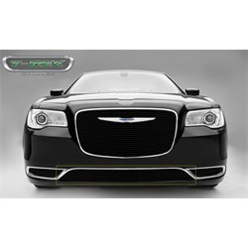 (T-Rex Grilles 25436B Black Overlay Billet Bumper for Chrysler)