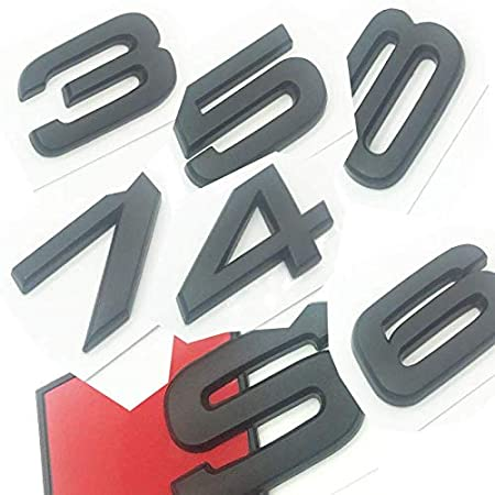 OEM ABS Nameplate compatible for Audi S 3 4 5 6 7 8 s3 S4 s5 s6 s7 s8 Matte Black Emblem 3D Trunk Logo Badge Compact S3