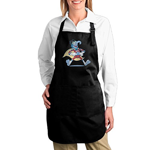 Gonzo Muppet Costumes (The Muppets Gonzo Superhero Costume Adjustable Bib Kitchen Cooking Restaurant Black Apron With Pockets)