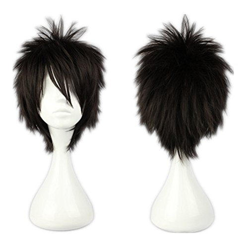 Kadiya Cosplay Wig Short Black Wig Anime Show Halloween Hair ()