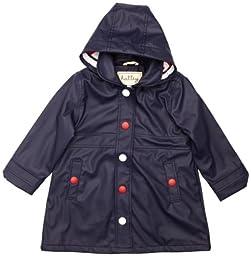 Hatley Little Girls\' Splash Jacket, Blue, 4