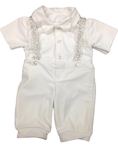Newdeve Baby-boys Christening Outfits Long Baptism Gowns For Todder (12-18 months, White) by New Deve
