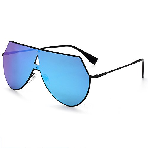 Vintage Eyeglasses Marrón One Auto Gafas Aviator Deporte Drivers Color de Azul Fashion Mirror Piece Sunglasses esquí de Unisex LVZAIXI WwOCqAf6