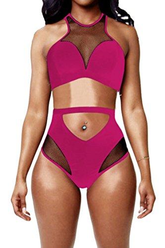 Pink Queen Womens High Waist Swimwear