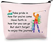 Golf Gifts Lady Golf Cosmetic Bags Golf Player Gifts Golfer Makeup Bag Pouch Golf Team Gifts for Golf Lover In