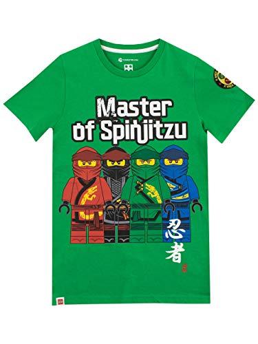 Green Ninja T-shirt - LEGO Ninjago Boys' Ninja Go T-Shirt Size 8 Green