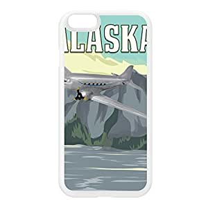 Alaska White Silicon Rubber Case for iPhone 6 by Nick Greenaway + FREE Crystal Clear Screen Protector