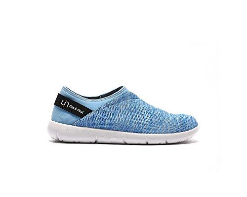 UIN Verona Gestrickte Komfort Loafer Schuhe Damen Blau