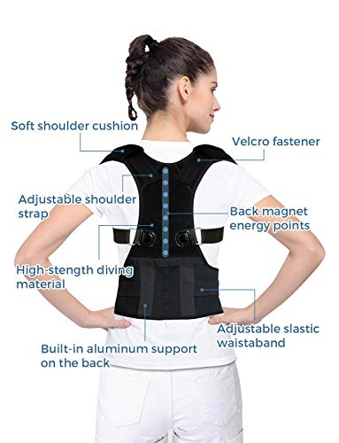 Posture Corrector for Women and Men KarmaRebirth Back Brace with Fully Adjustable Straps Shoulder