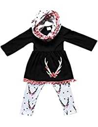 Baby Girls Unicorn Clothing Children Cute Tops Skirt + Long Pant Set