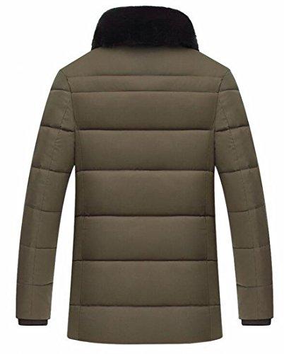 Outwear Addensare Brd Calda Piumini Ecologica Mens Trapuntato Colletto Inverno 2 In uk Pelliccia ztaTdwarqx
