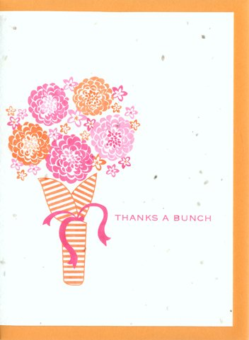 Grow A Note® Thanks a Bunch Cards 4-pack