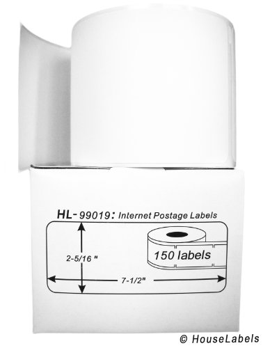 Part Internet Postage Labels (6 Rolls; 150 Labels per Roll of HouseLabels DYMO-Compatible 99019 1-Part Internet Postage Labels (2-5/16
