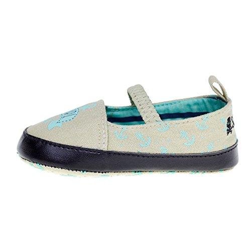 Sourpuss Rockabilly ANCHOR Sailor niña bebé zapatos Mary Jane Pisos gris 0–