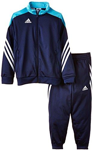 adidas Unisex - Kinder Trainingsanzug Sereno14, dunkel blau/super cyan s12/weiß, 164, F49708