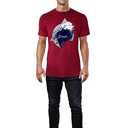 SINUS ART ® Adler im Street Style Herren T-Shirts in Independence Rot Fun Shirt mit tollen Aufdruck
