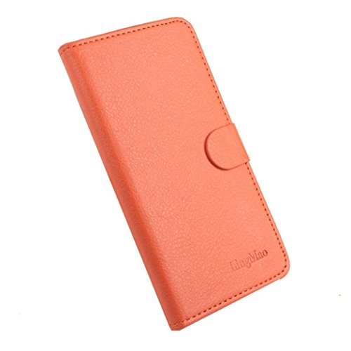 LUQUAN Wallet Stand Flip Leather Case Cover Skin For Doogee X5 Pro Smartphone Orange