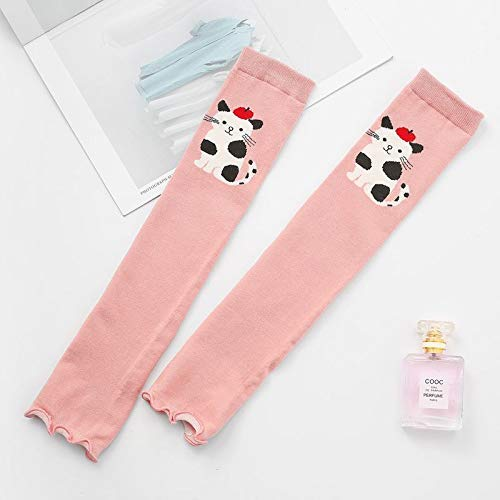 (YChoice Wamers Girls Warm Socks Spring and Summer Over The Knee Socks, Skating, Running, Riding, Skating, Protective, Warm Knee Pads, Sun Protection (Color : Pink) (Color : Pink))