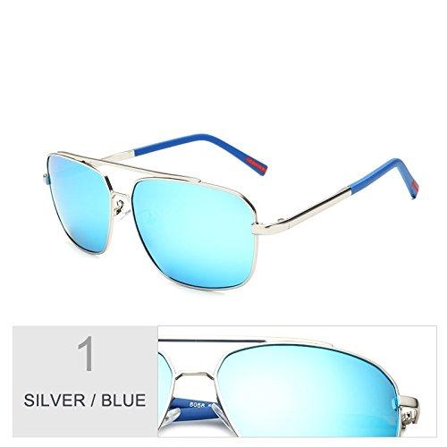 Clásica Verde Sol Gafas Gun Hombres Polarizadas Plaza De Silver De El Para De TIANLIANG04 Sol De Blue Aleación Gafas La Guía Hombre Oscuro wY7Hx4q