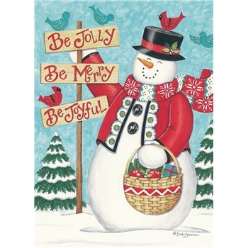 2016 LEGACY JOLLY MERRY SNOWMAN CHRISTMAS XMAS - Be Jolly, Be Merry, Be Joyful - DAILY Boxed Box Holiday Greeting Cards HBX23272 {jg} Great for mom, dad, grandma, wife, husband, relatives and friend. (Card Be Joyful Christmas)