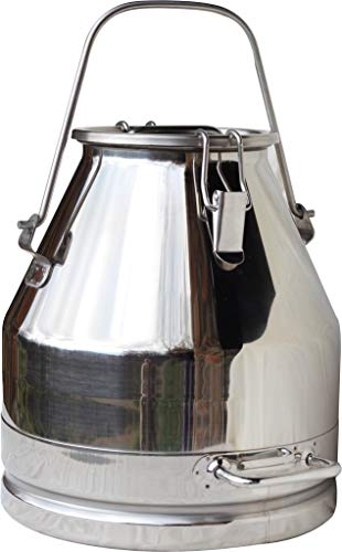 (Stainless Steel Milk Can, Heavy Duty with Strong, Sealed Lid (5 Gallon (Bail Handle)))