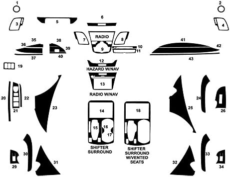 Rvinyl Rdash Dash Kit Decal Trim for Dodge Challenger 2015-2020 Aluminum Brushed Black