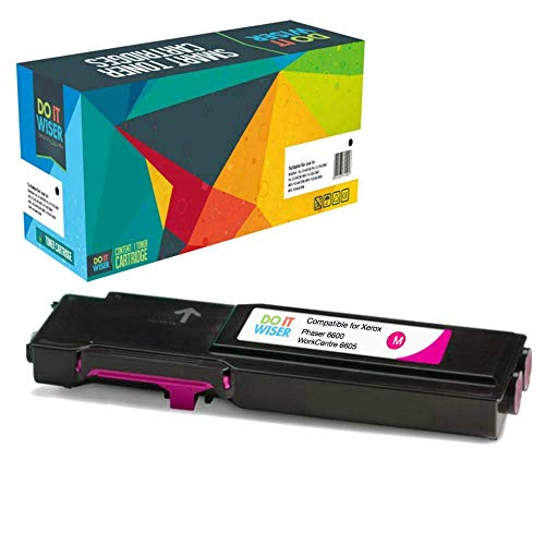 Do it Wiser High Yield Compatible Toner for Xerox Phaser 6600, 6600n, 6600dn, 6600ydn | WorkCentre 6605, 6605n, 6605dn - 106R02226 - Magenta - 6,000 pages
