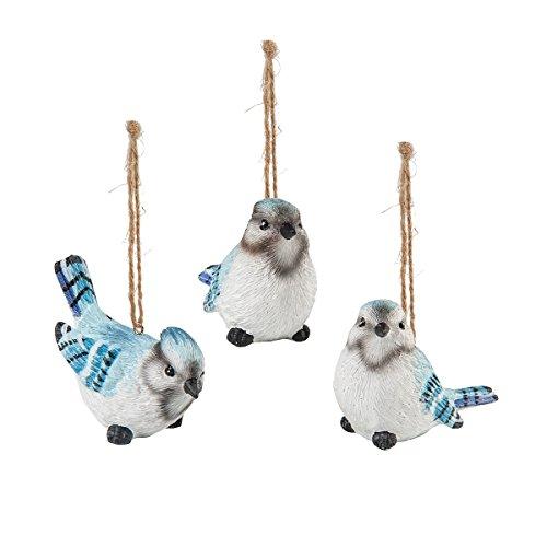 Songbird Christmas Tree Ornament - GALLERIE II Blue Jay Songbird Christmas Xmas Ornament A/3