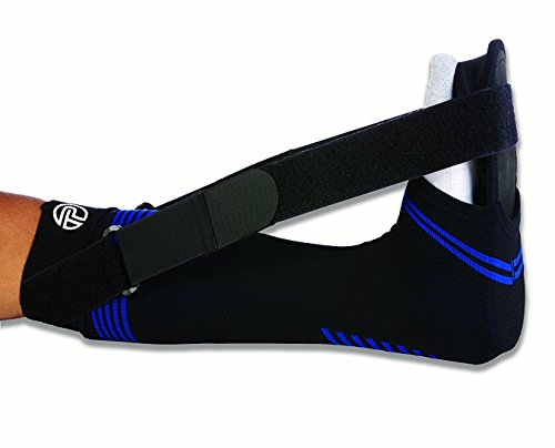 (Pro-Tec Athletics Soft Night Splint for Plantar Fasciitis, Black, Medium)