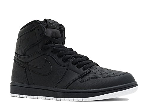 Nike Heren Air Jordan 1 Mid Basketbalschoen Zwart, Wit-zwart