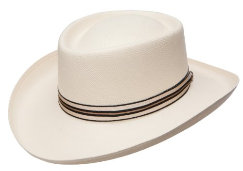 Panama Gambler Hat - Dobbs Kingston Gambler Shantung Straw Hat, X-Large