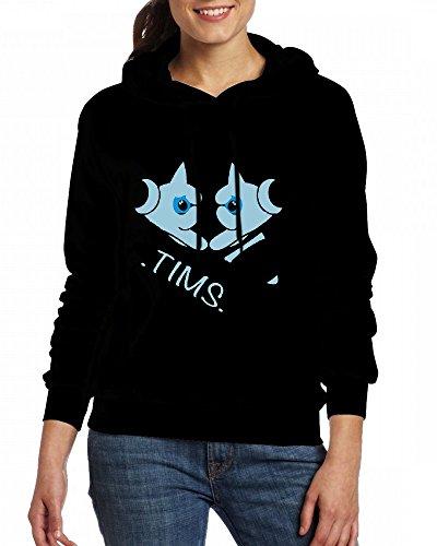 TIMS hands Womens Hoodie Fleece Custom Sweartshirts