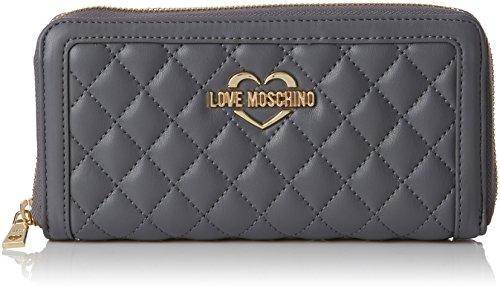 3x10x20 Cm Love Pu Quilted Pochettes Moschino X b Femme Grigio Gris T Portafogli Nappa grey H xxav1qf