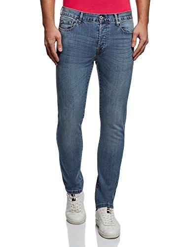 oodji Ultra Hombre Vaqueros Básicos Slim Azul (7500w)