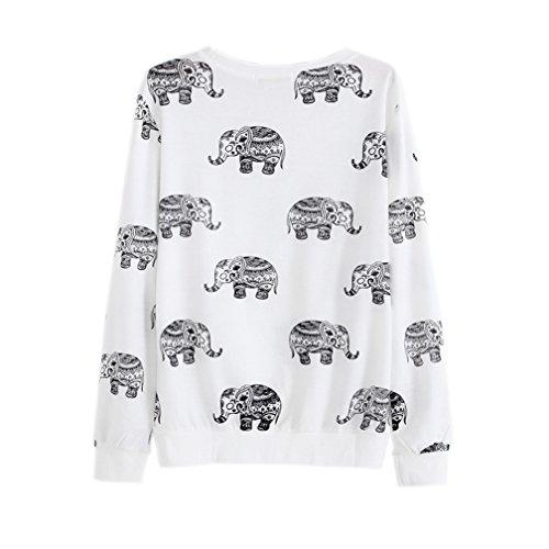 2015 Cute Animal Elephant Printed Hoodies Sweatshirts (Size M) 85%OFF