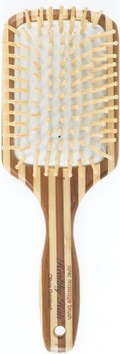 (Olivia Garden HH4 Large Ionic Cushion Paddle Hair Massage Brush Eco-Friendly Bamboo by Olivia Garden)