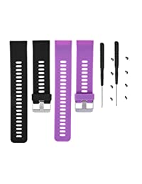 TenYun Garmin Forerunner 35 watch band Replacement Accessory Sport Colourful Soft Silicone Bracelet Strap Band For Garmin Forerunner 35 watch with Adapter Tools (B&P)