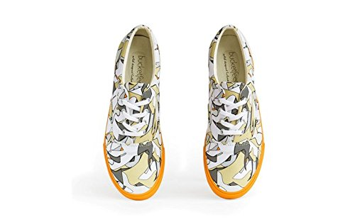 Bucketfeet Mens Fragmenter Lerret Snøre-up