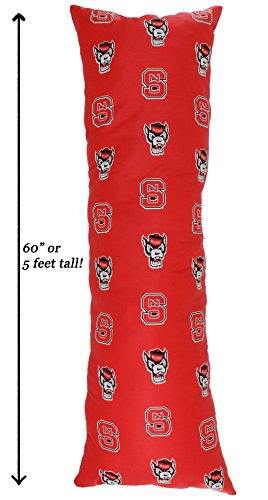 College Covers North Carolina State Wolfpack Printed Body Pillow, 20'' x 60'' by College Covers (Image #1)
