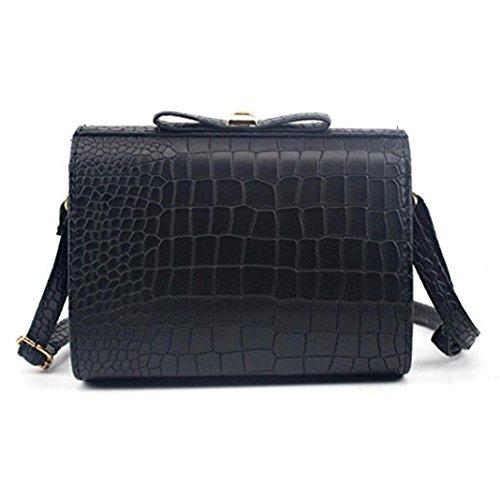 Women Handbag Croco Shoulder Purse Small Large dragonaur Bag Tote Fashion Black Ladies Crossbody size Bow Pink fdFd0wBq