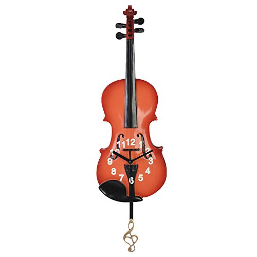 (Giftgarden Violin Gifts Wall Clock Decor for Music Enthusiast Gifts, Violin Player Gift)