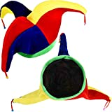 Tatuo 2 Pieces Jester Clown Hats Mardi Gras Hat Multicolor Costume for Halloween Dress Costume Accessory