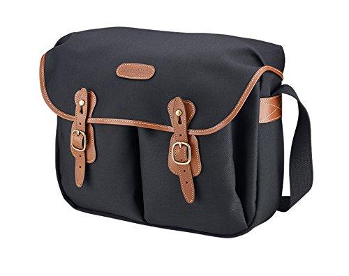 Billingham Hadley Large, SLR Camera System Shoulder Bag, Black Canvas with Tan Leather Trim and Brass Fittings by Billingham